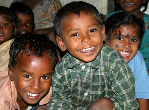 Children at a REDS playschool in India.