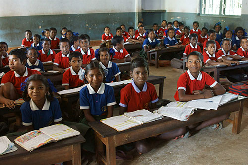 Students at Morning Star School in India