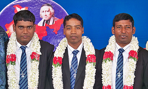 Bros. Peter Paul K., George Hans and Balaswamy A. professed perpetual vows on Jan. 2.