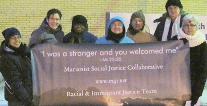Vigil participants included Francine Cruz, Ashley Davidson, Terri Burgin, Linda Flores-Tober, Carlos Flores, Arlene Sroczynski and Pati Krasensky.