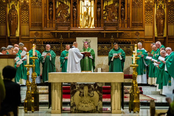 Cleveland Bishop Richard Lennon celebrates a Mass commemorating Marianist service in the diocese.