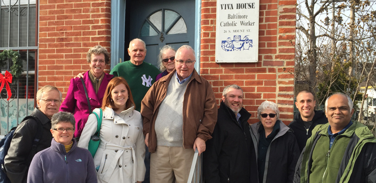 Members of the MSJC steering committee at the Baltimore meeting included,f rom left, Jim Vogt, Tara Poling, Sr. Grace Walle, Mallory Green, Brendan Walsh, Willa Bickham, Bro. Frank O'Donnell, Matt Dunn, Pati Krasensky, Rollie Malfitano and Errol Christian.