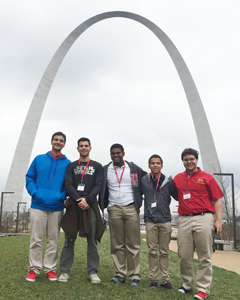 Colegio San José students visit St. Louis' Gateway Arch in March.