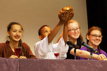 The Last Supper at Chaminade College Preparatory. Jan D. Dixon photo