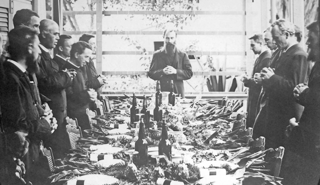 Honolulu feast late 1800s