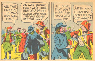 """From a comic book titled, """"In the Shadow of the Guillotine,"""" printed in 1943. See the whole comic book."""