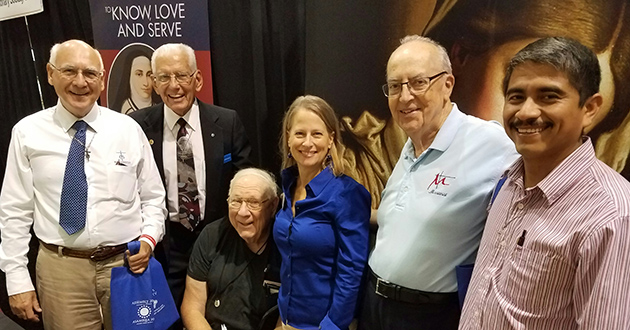 The Marianist Family was well represented at the Archdicoese of San Antonio Assembly in November. Among those greeting visitors to the Marianist booth were Bros. Ed Longbottom, Al Kuntemeier and Ralph Newman, Mona Mengler, and Bros. Louis Ernst and Esteban Reyes Duran.