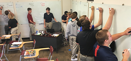 "At St. John Vianney High, ""360 Math"" classes mean students solve on their feet."