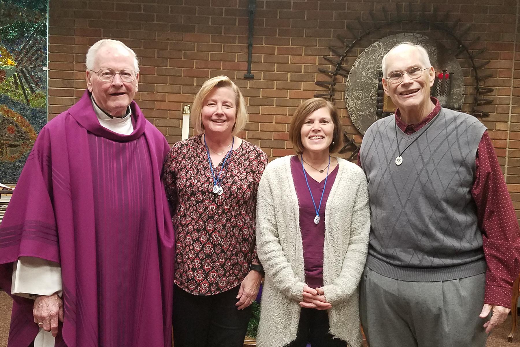 Fr. Al McMenamy, Debbie Shaw, Julie Guelker, Jay McGillick